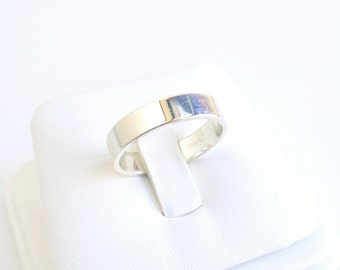 Sterling Silver Flat Wedding Ring Made To Order 5mm Thick