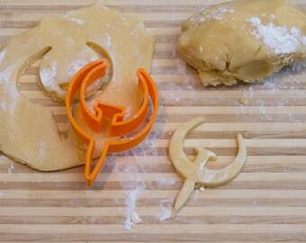 Quake Cookie Cutter, Fondant Cutter, 3D Printed to order