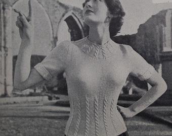 Vintage Knitting Needlecraft Magazine 1950s - Stitchcraft 1953 - women's sweater knitting patterns - sewing embroidery - felt work applique