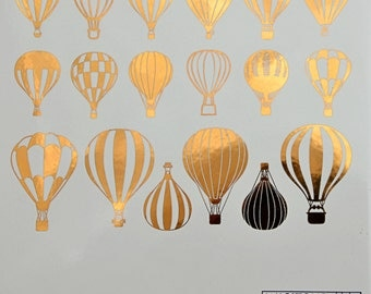 Hot Air Balloon Ceramic Decals, Glass Decals or Enamel Decals
