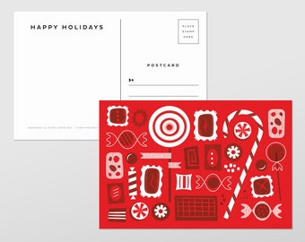 Holiday Candy Postcards