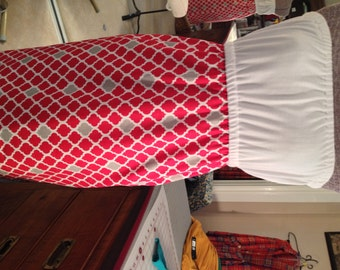 Red and White Quatrefoil Boutique style Dresses