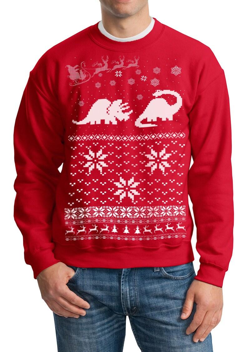Ugly Christmas sweater Santa Dinosaur pullover