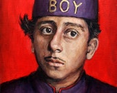 Lobby Boy - Grand Budapest Hotel Print - Portrait Painting - Wes Anderson - 5x7 8x10 11x14