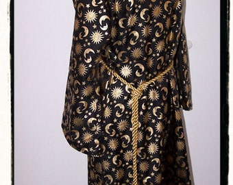 The Apprentice Wizard Witch Costume Dress Tudor Renaissance Gown Size Large Childs Childrens