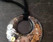 Clockwork Clutter Large Ring Steampunk Choker Necklace