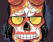 Hellboy Sugar Skull Print 11x14 print