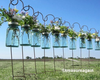 DIY Hanging Vases Ball Mason Jar Hanging Flower Frog LIDS, for Candles, Flowers, Lanterns, Mason Jar Weddings, 12 or more
