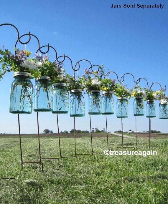 DIY Hanging Vases Ball Mason Jar Hanging Flower Frog LIDS, for Candles, Flowers, Lanterns, Mason Jar Weddings, 12 or more