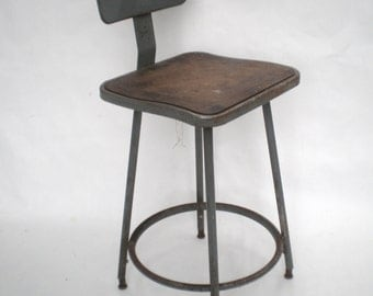 Vintage Tall Industrial Stool