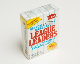 NOS 1987 Fleer League Leaders Complete Set, Sealed