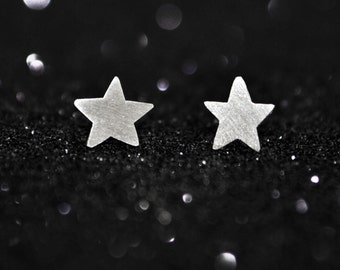 Shooting Stars Stud Earrings in Sterling Silver - Gift for Girls