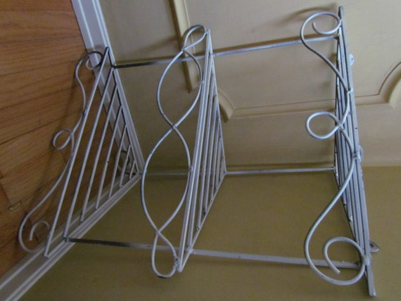vintage shabby chic wrought iron corner shelf by hipbiscuits. Black Bedroom Furniture Sets. Home Design Ideas