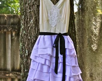 Custom Wedding dress, bridesmaid, Vegas wedding, elope, elopement, prom, senior, mini dress, ruffles, slip dress, reception, rehearsal, boho