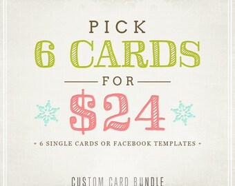 6 Card Bundle - Custom Christmas Special