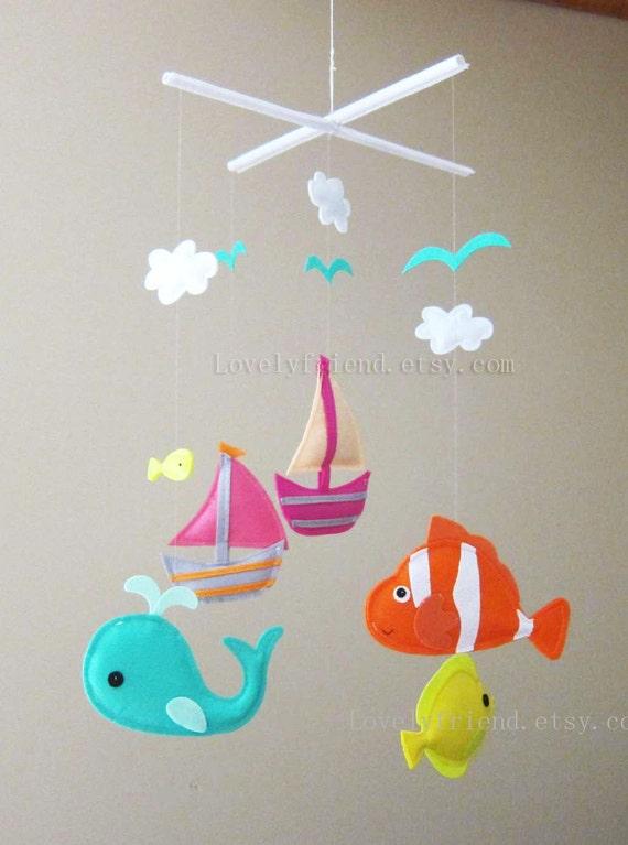 Items Similar To Baby Mobile Nemo Fish Crib Mobile