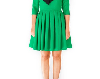 Mod Sailor green black dress scooter 60s black collar custom made