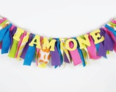 Candyland Birthday Banner for Girl's Birthday Party - Rag Banner - Garland - Photography Prop
