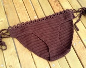 chocolate brown Crochet Bikini Bottom Women Swimwear Swimsuit 2016 Summer Beach Wear Brazilian Bikini Bathingsuit senoaccessory