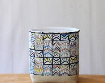 Storage Basket Geometric Blue