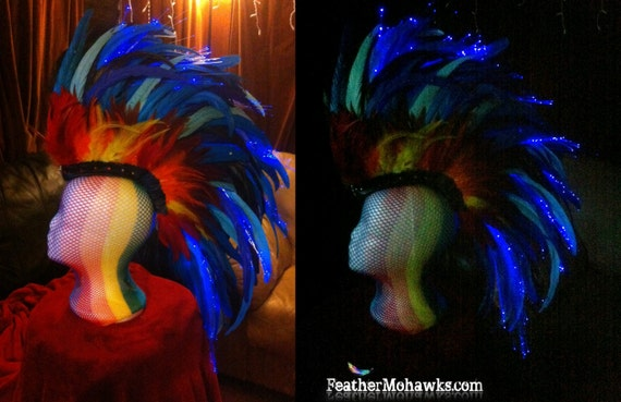 Light it up! Fiber optic ADD ON pack for your feather mohawk