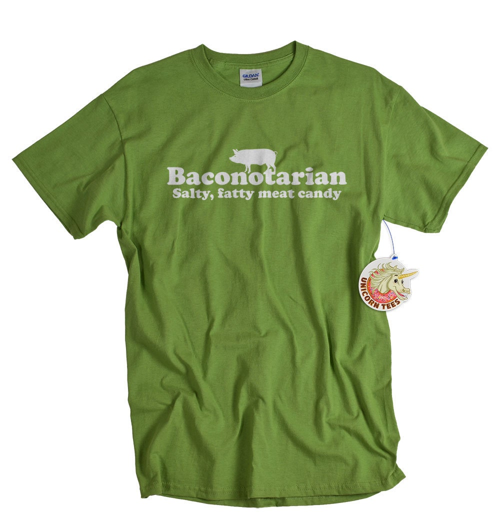 Geekery Bacon T shirt funny mens youth kids boys pork pig