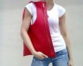 FREE SHIPPING/Handmade leather bag/Red leather bag/Coral  leather bag/Leather tote/Everyday bag/Shoulder bag/Fashion bag/By Lara Klass
