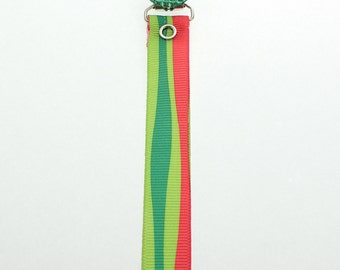 Holiday Pacifier Clip Green  Crystal with Matching Ribbon (RHGR)