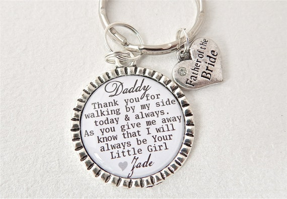 Bride Gift Father Of The Sayings: FATHER Of The BRIDE Personalized Dad Keychain Dad Quote Men
