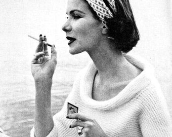 Vintage 50's Knit Sweater PDF Pattern - INSTANT DOWNLOAD Pattern