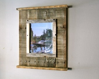 Rustic Reclaimed Pallet Wood Picture Frame