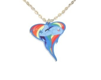 Rainbow Dash Necklace, Imperfect Sale, My Little Pony Friendship is Magic Laser Cut Perspex