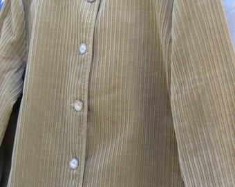ORVIS Wide Wale Cotton Corduroy Button Jacket - 100% Cotton - Fully Lined - Ladies 12- American Made in USA