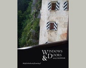 SALE 2014 TRAVEL CALENDAR. Windows and Doors. Fine Art Photography. Desk Calendar