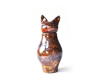 Basst Cat Urn-  Copper