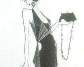 Original fashion illustration - Flapper