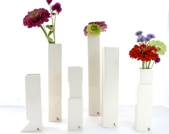 Architectural vases, Set of 3