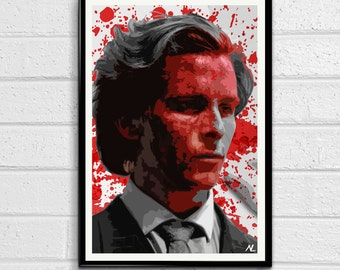 Patrick Bateman American Psycho Horror Film Pop Art Movie Poster Print #3 Canvas