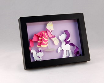 My Little Pony - Rarity and Opal - Shadow Box