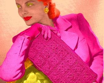 Almost FREE Vintage 1944 Chic Cordet Bag 1059 PDF Digital Crochet Pattern