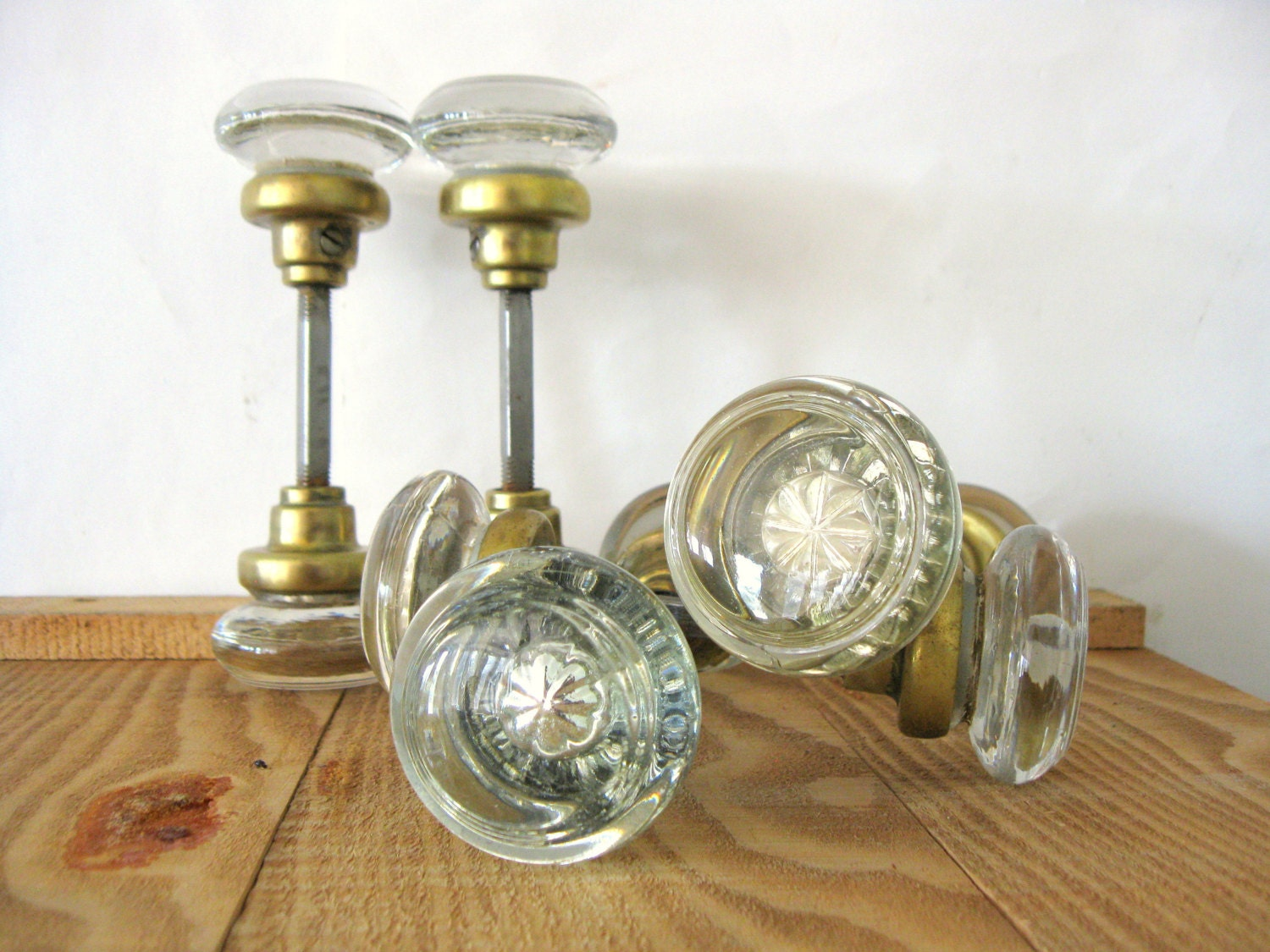 Antique Glass Door Knobs Round Glass Door Knobs With Inset