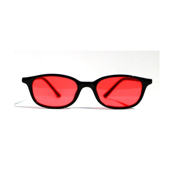 Vintage Nerd Sunglasses Red Lens Glasses Rose By Sunnyspex