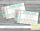 Chore Punch Card Printable - INSTANT DOWNLOAD - Printable Digital Files