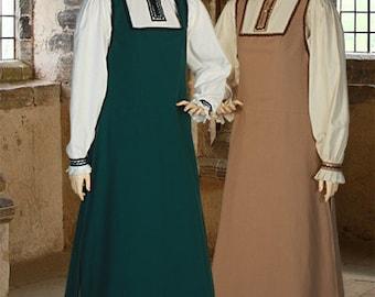 Women Renaissance Handmade Dress Costume Gown Medieval Clothing Cotton