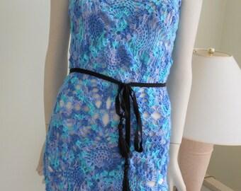 Off The Shoulder Pine Lace Mini Dress