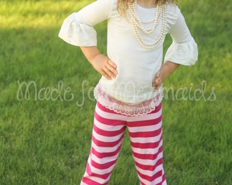 Hailey Ruffle Pants PDF Pattern instant download size 1/2-14years