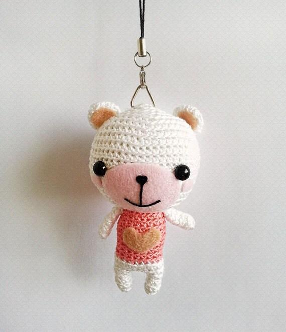 Amigurumi Bear Charm Crochet Bear Charm Amigurumi Keychain