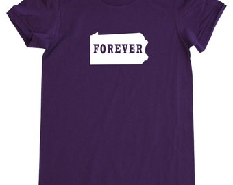 Womens Pennsylvania Forever T Shirt - American Apparel Fine Jersey Short Sleeve Shirt - Tri Blend Track Tee - S M L XL