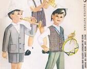60s Little Boys Suit Short or Long Pants McCalls 5841 Vintage Sewing Pattern Long Sleeve Jacket or Vest Cute Styles for Boys UNCUT Size 6