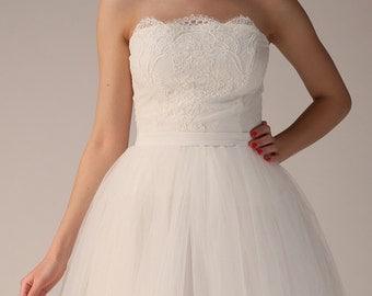 Wedding corset, lace corset, ecru corset, like a princess
